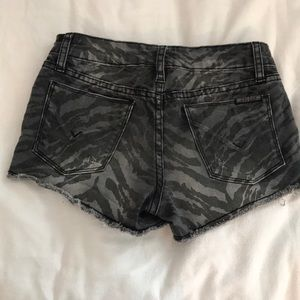 Hudson Jeans Bottoms - Gray and zebra print Hudson jeans shorts